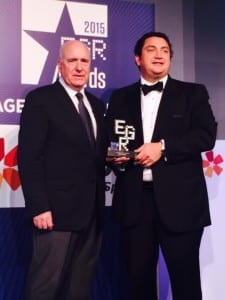 Ficom Leisure wins the 2015 EGR B2B Awards in the Corporate Service Category 2